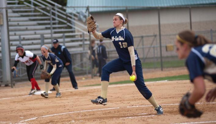 Softball Splits on First Day of Spring Break in Florida