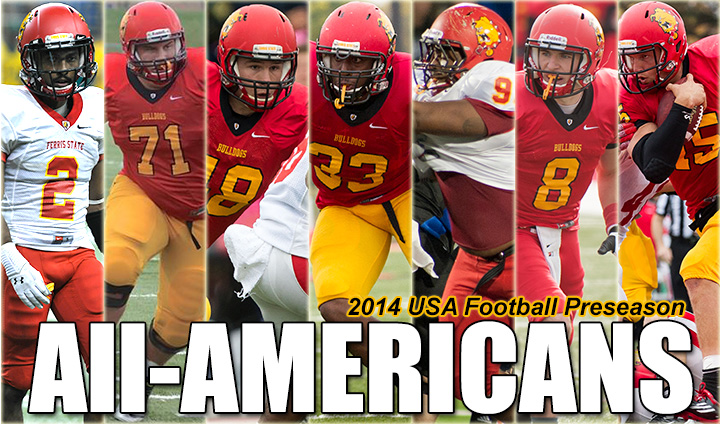 Seven Ferris State Football Players Tabbed As Preseason All-Americans!
