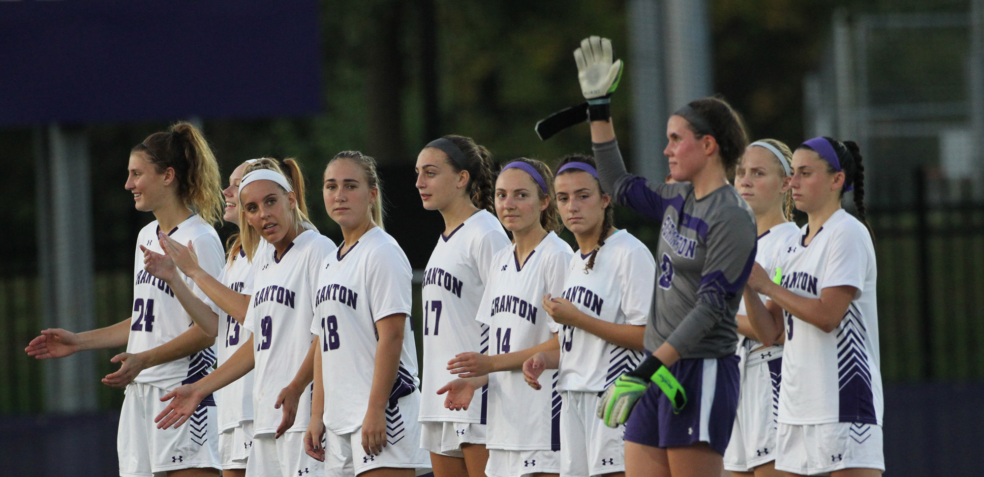 The University of Scranton women's soccer team will attempt to win its seventh Landmark Conference championship on Saturday.