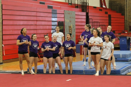 Gymnastics third at ECACs; Bears qualify for nationals as a team
