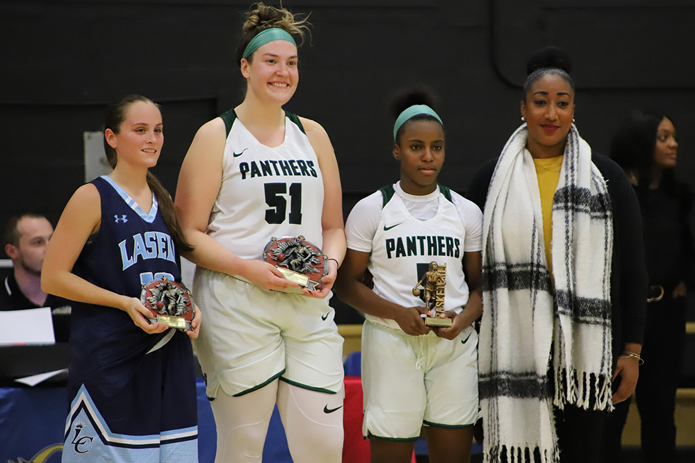 Breanna Muir was Lasell's representative on the All-Tournament Team