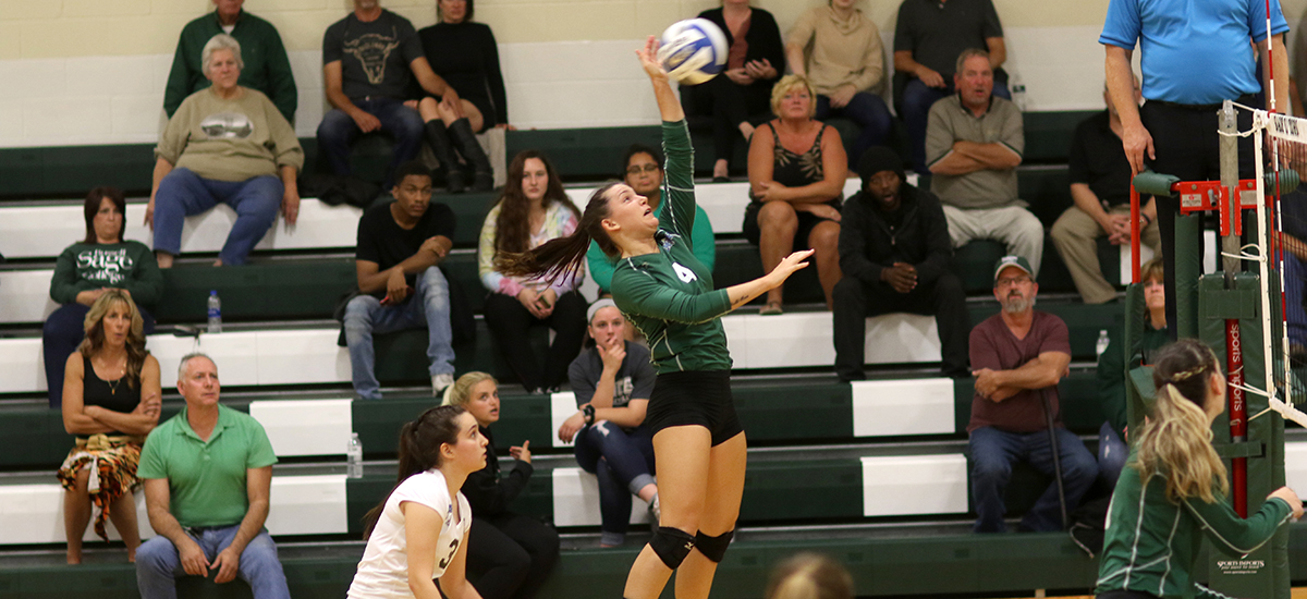 Sage volleyball team rallies to beat Utica for key E8 win