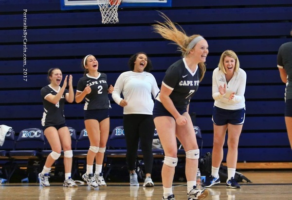 CFCC Volleyball Wins in 3 Sets