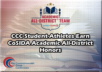 CCC Student-Athletes Earn CoSIDA Academic All-District Honors