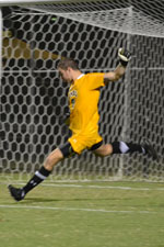 Phil Saunders made two saves in PK's