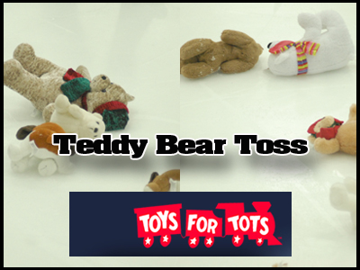Teddy Bear Toss Held During Bulldog Hockey Game