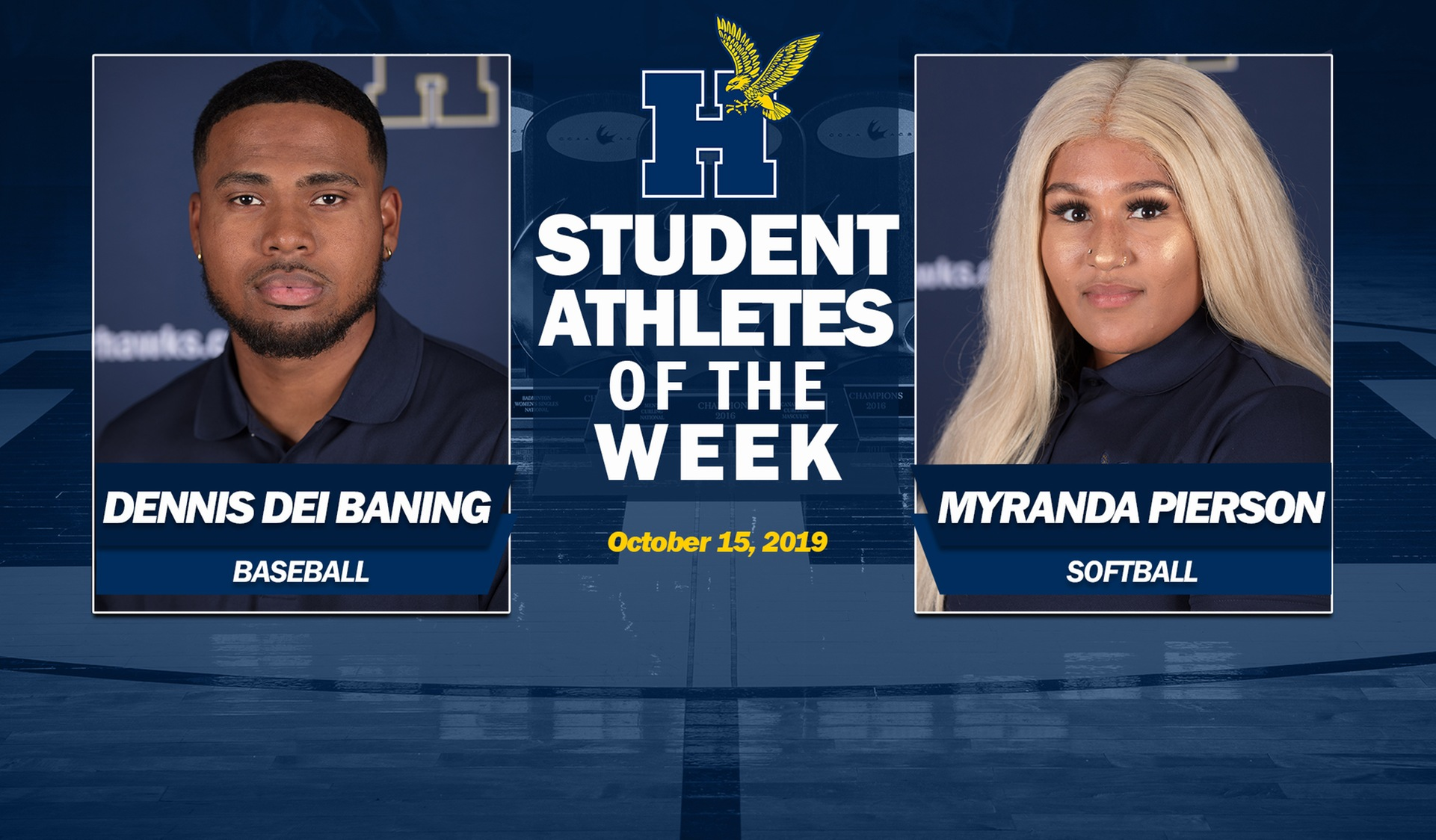 Dei Baning, Pierson Earn Humber Student-Athlete of the Week Honours