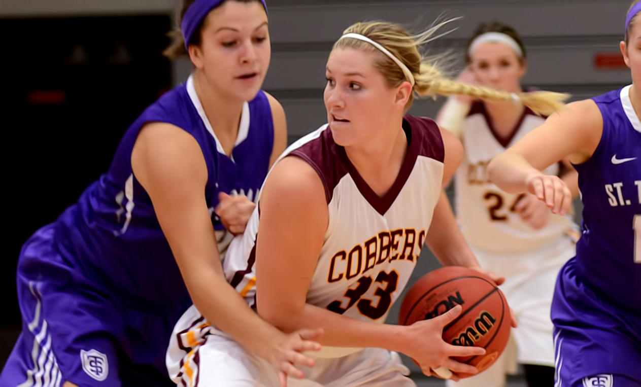 Junior Jenna Januschka tied her career high with 22 points in Concordia's key early MIAC road win at Bethel.