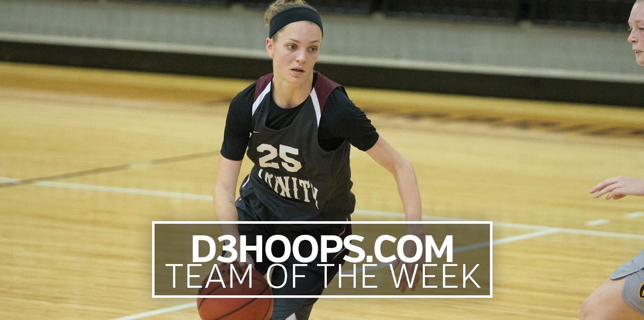 Trinity's Weaver Named to D3Hoops.com Team of the Week