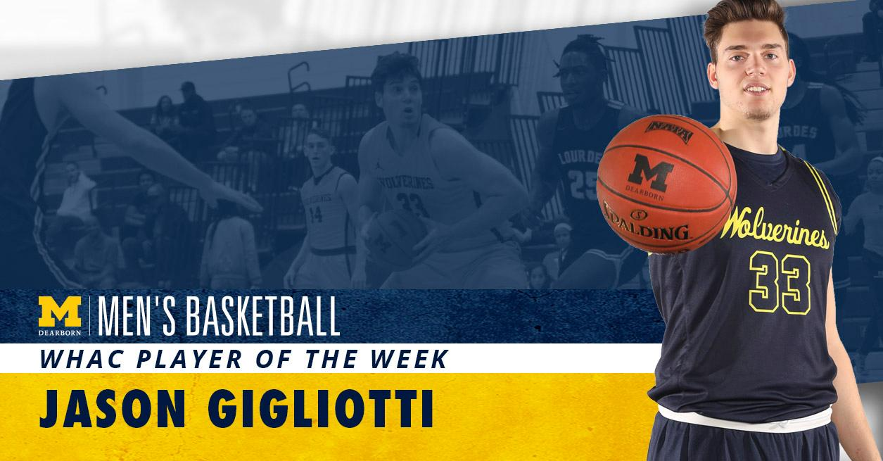 Gigliotti earns first career WHAC honor