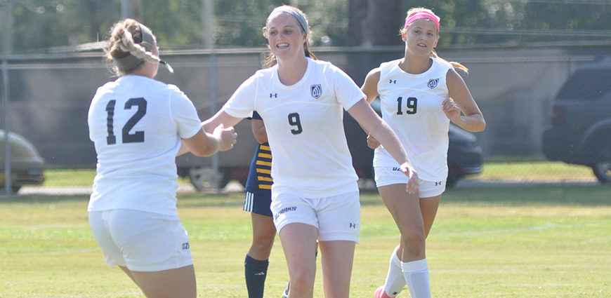 Women's Soccer Team Notches 2-0 Win