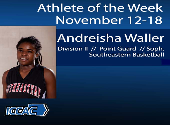 Waller Earns ICCAC Athlete of the Week
