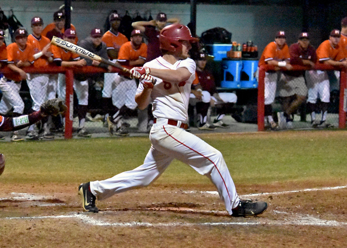 Joseph Calvert was 3-for-5 and scored one run in Friday's loss at Covenant. (Photo by Wesley Lyle)