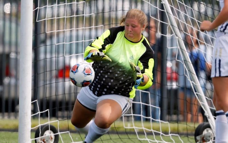 Coffey Makes 10 Saves As Women's Soccer Falls At Suffolk
