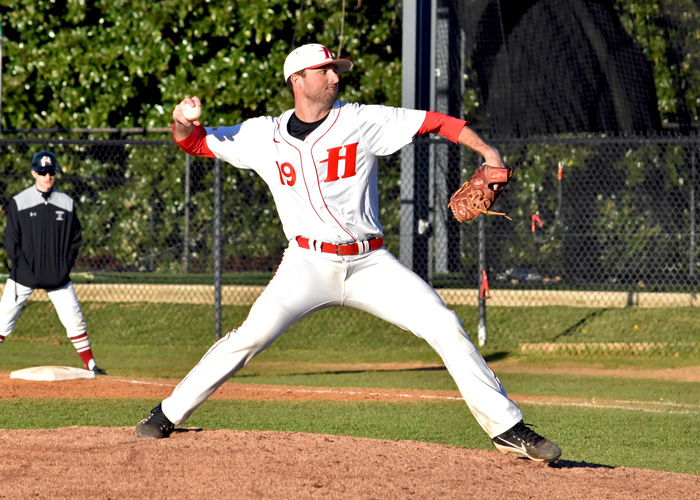 Winning pitcher Zach McGrady struck out seven, scattered seven hits, walked one and allowed four runs in Friday night's 14-4 win over Piedmont. (Photo by Wesley Lyle)