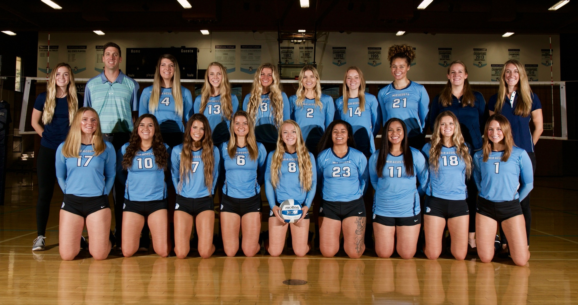 Women's Volleyball team picture.