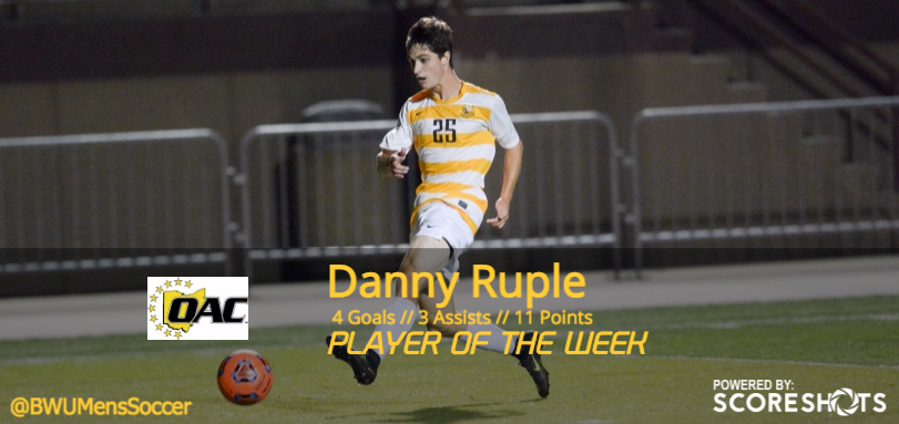 Sophomore All-OAC forward Danny Ruple