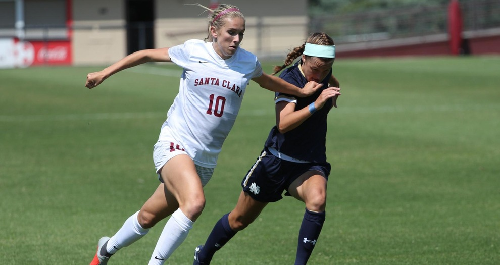 Offense Leads No. 12 Women's Soccer Past Notre Dame Sunday