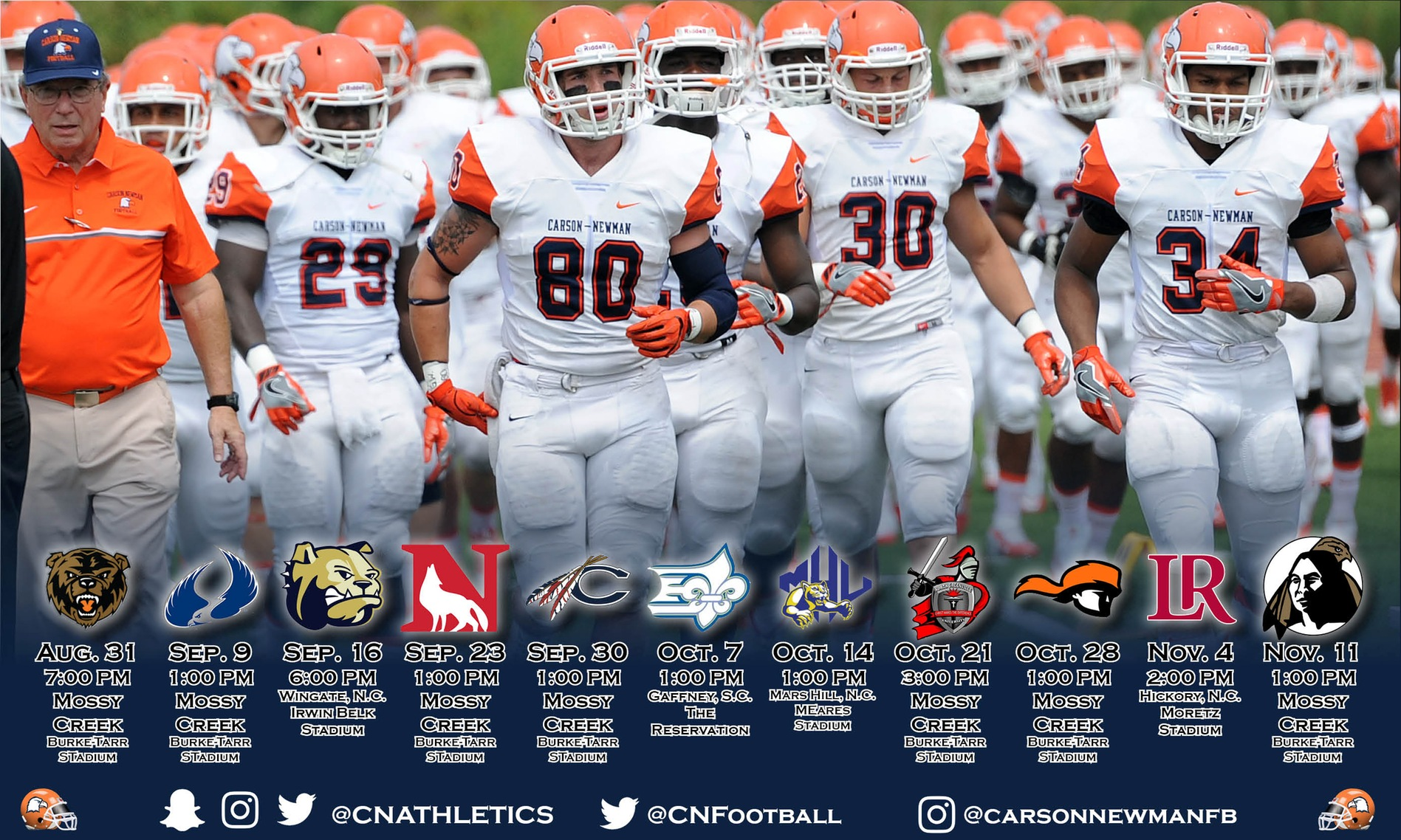 Seven home games highlight 2017 C-N Football schedule