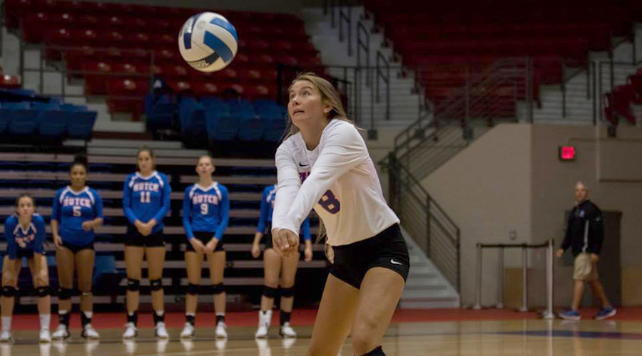 Raychel Reed and the Blue Dragon Volleyball team dropped a 3-1 Jayhawk West decision on Saturday at Colby (Allie Schweizer/Blue Dragon Sports Information)