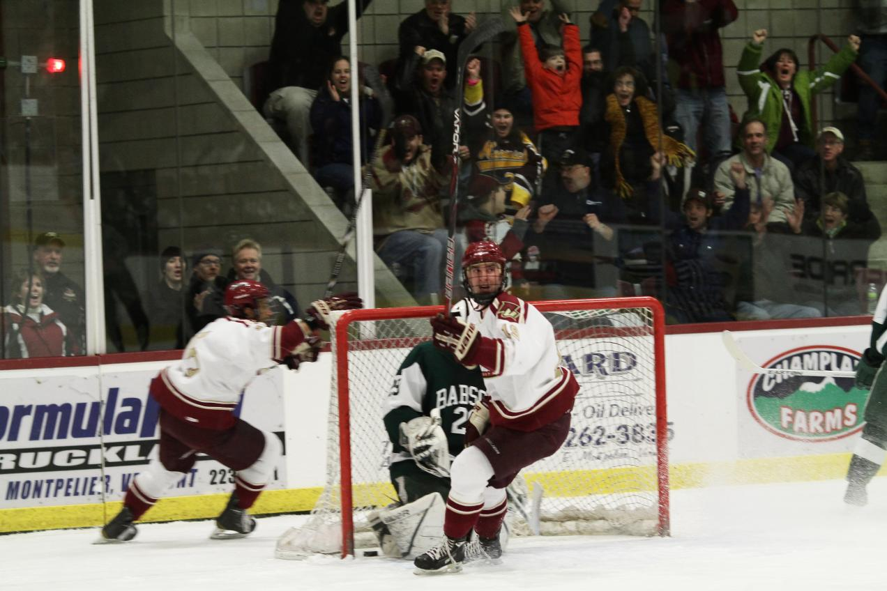Men's Hockey: Cadets shutout Babson 4-0 to advance to Frozen Four