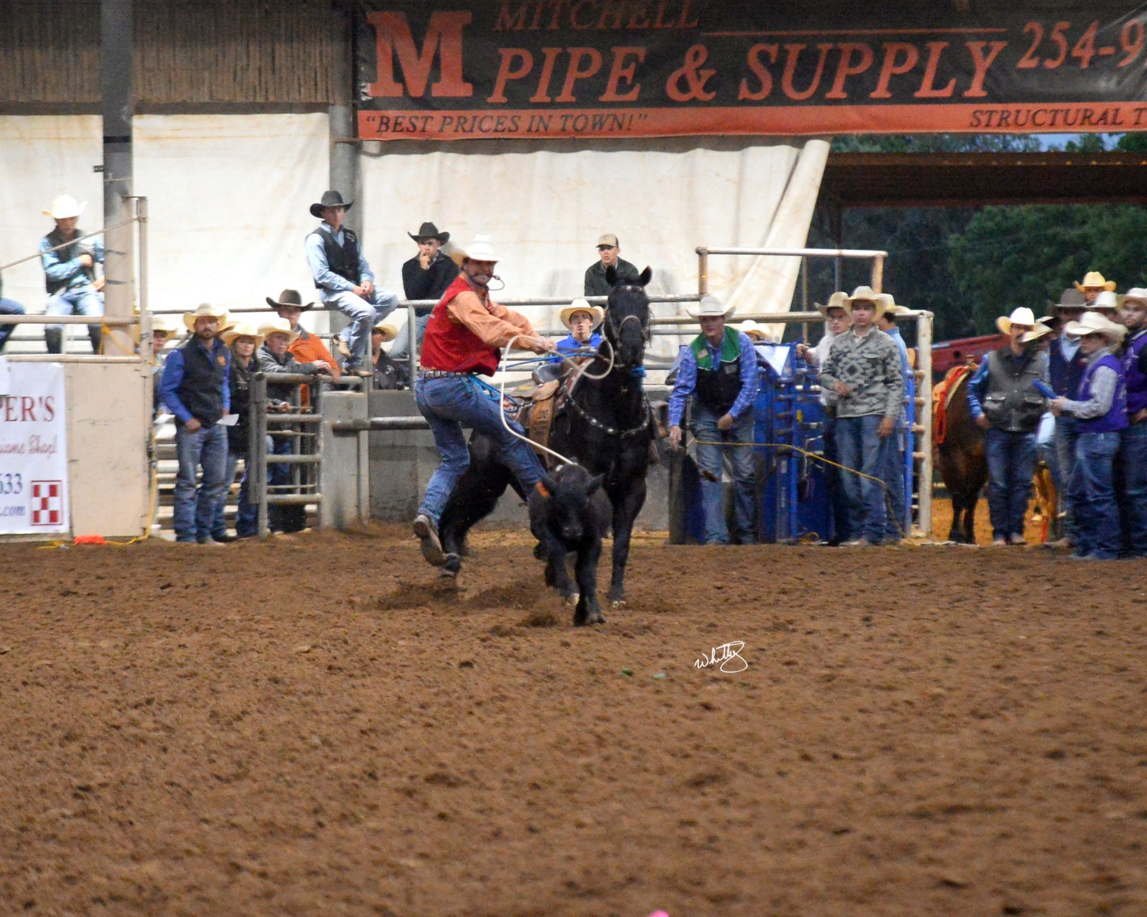 NMJC's Tyce McLeod Wins Second in Average TD Roping at TSU