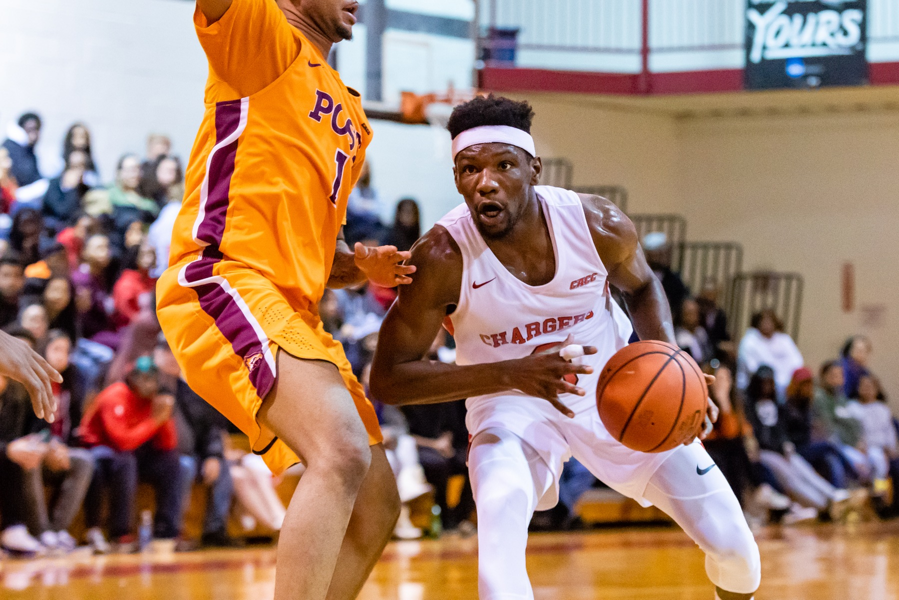 MEN'S BASKETBALL UPENDS CALDWELL UNIVERSITY