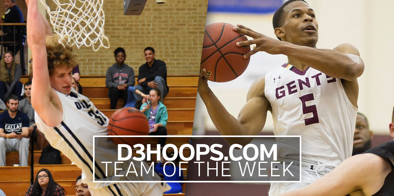 Centenary's Kirkendoll, Dallas' Levi Selected to D3Hoops.com Team of the Week