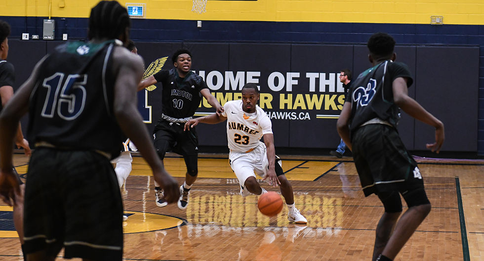 MEN'S BASKETBALL FALL TO LAMBTON IN OVERTIME, 103-97