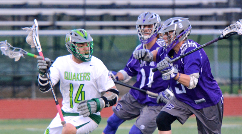 @DubC_MensLax falls under early assault