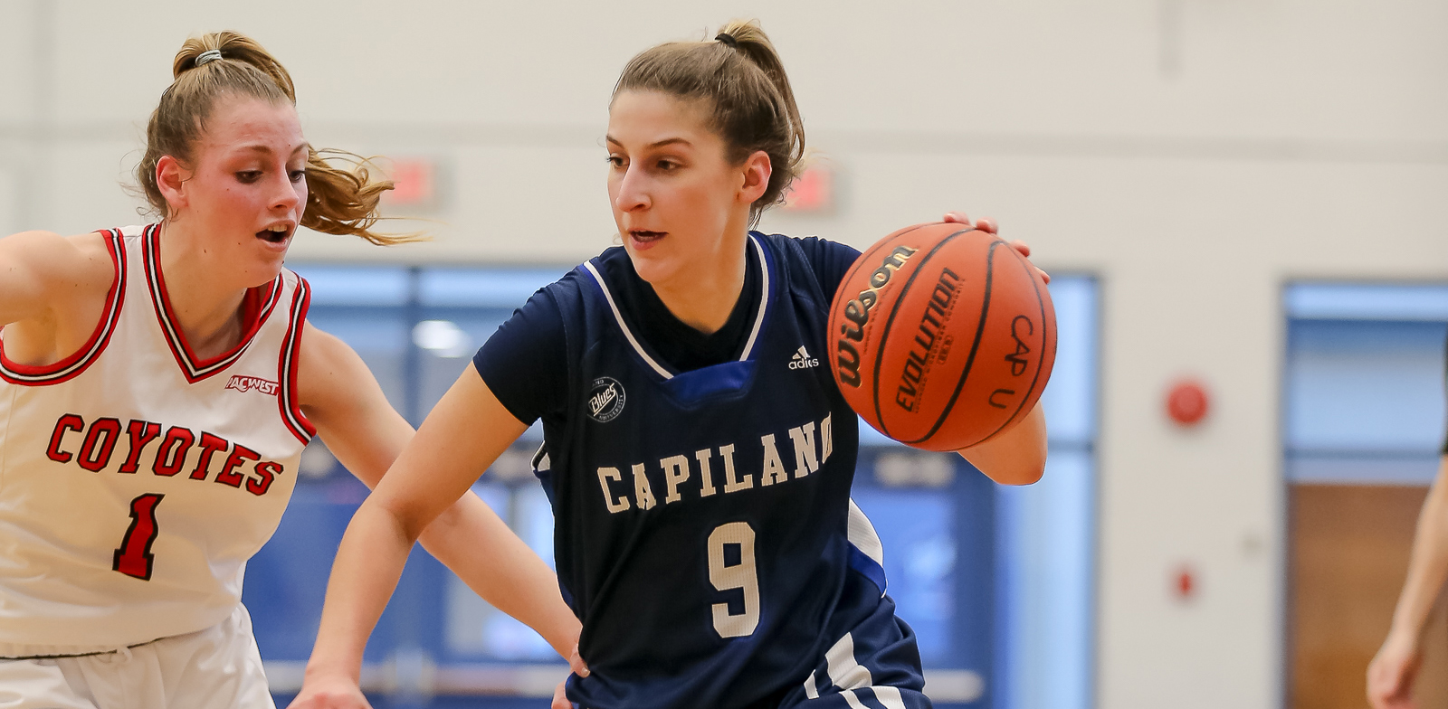 Fifth-year guard Sherrie Errico finished her regular season career in fifth place on the all-time CapU women's basketball scoring list with 739 career points. Photo Paul Yates / Vancouver Sports Pictures