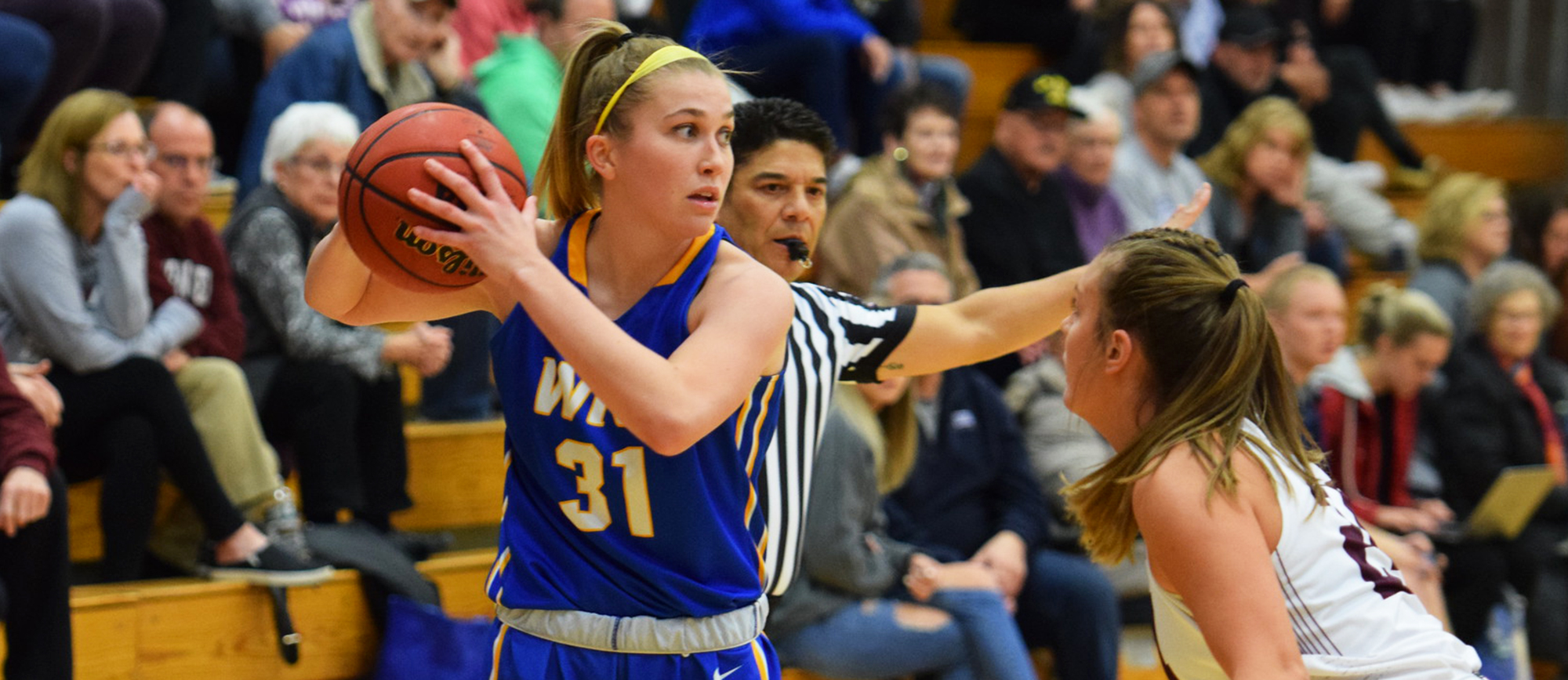 Meghan Orbann scored a game-high 19 points in Western New England's 51-40 loss to Springfield on Tuesday night. (Photo by Rachael Margossian)