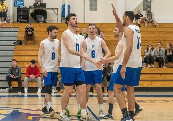 MEN'S VOLLEYBALL NOTCHES 20TH WIN WITH GNAC SWEEP OVER JWU & LASELL