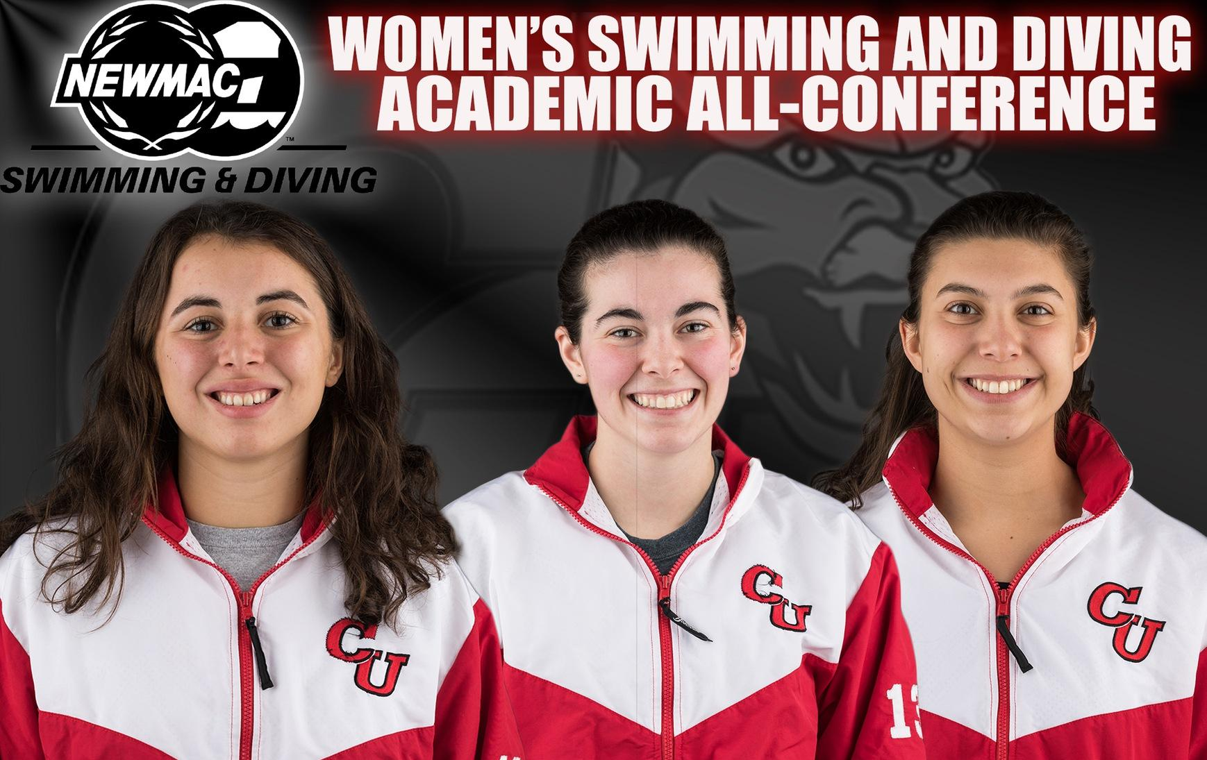 Women's Swimming and Diving Places Three on NEWMAC Academic All-Conference Team