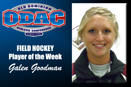 Goodman Claims ODAC Player of the Week Honor