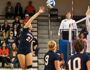 Victories over Division I teams highlight volleyball's spring