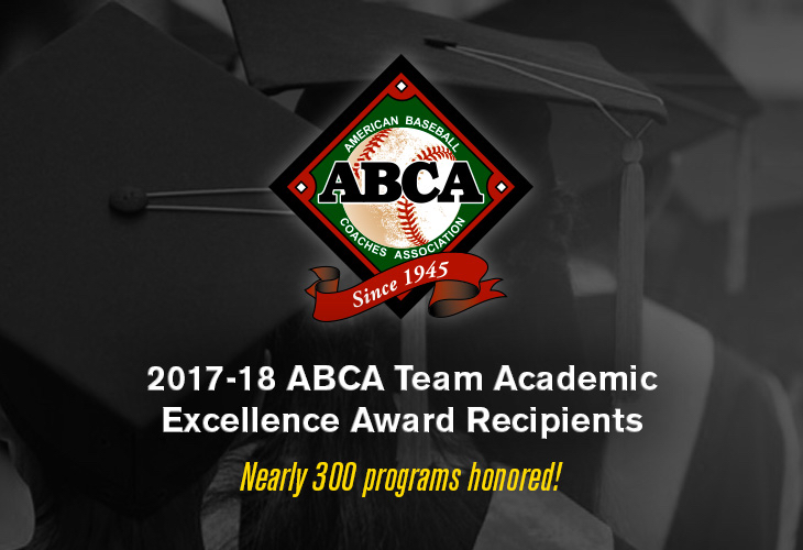 Baseball Earns ABCA Team Academic Excellence Award