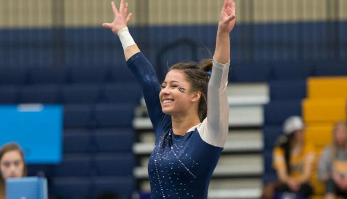 Gymnasts Win Four Events to Defeat Hamline