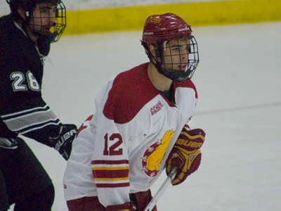 Aaron Lewicki becomes a finalist for the 2009-10 CCHA Scholar-Athlete of the Year Award.  (Photo by Joe Gorby)