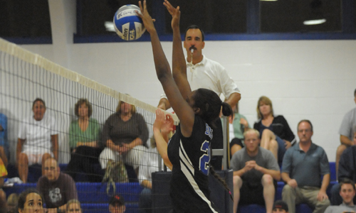 Osby had eight kills and three total blocks for the match.