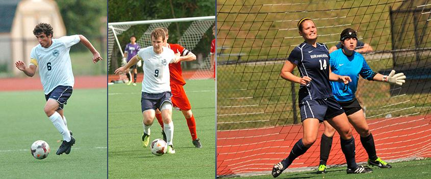 From left, Ben Applefield '14, Sam Ocel '13, Kelly Peterson '14 and Michelle Savuto '15 (photos by Sportspix)