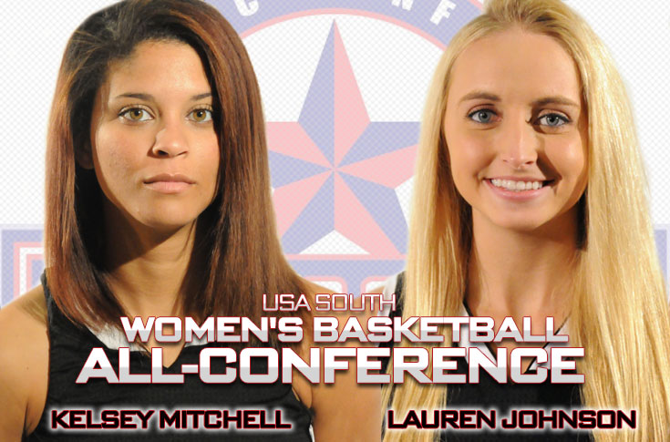 Women's Basketball: Lauren Johnson, Kelsey Mitchell named to USA South All-Conference Honrable Mention team