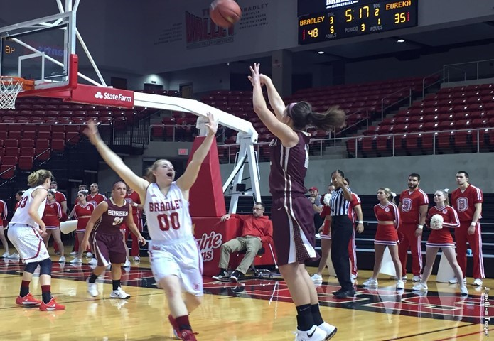 Eureka College women's basketball downed at Bradley