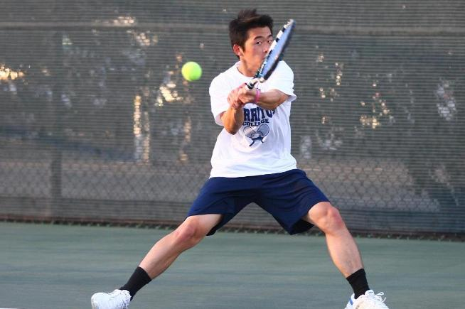 File Photo: Sheldon Hseih won his singles and doubles match to help lead the Falcons over LA Pierce