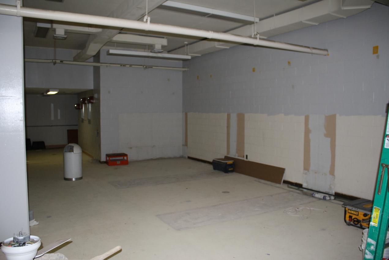 The football locker room under construction in June 2011