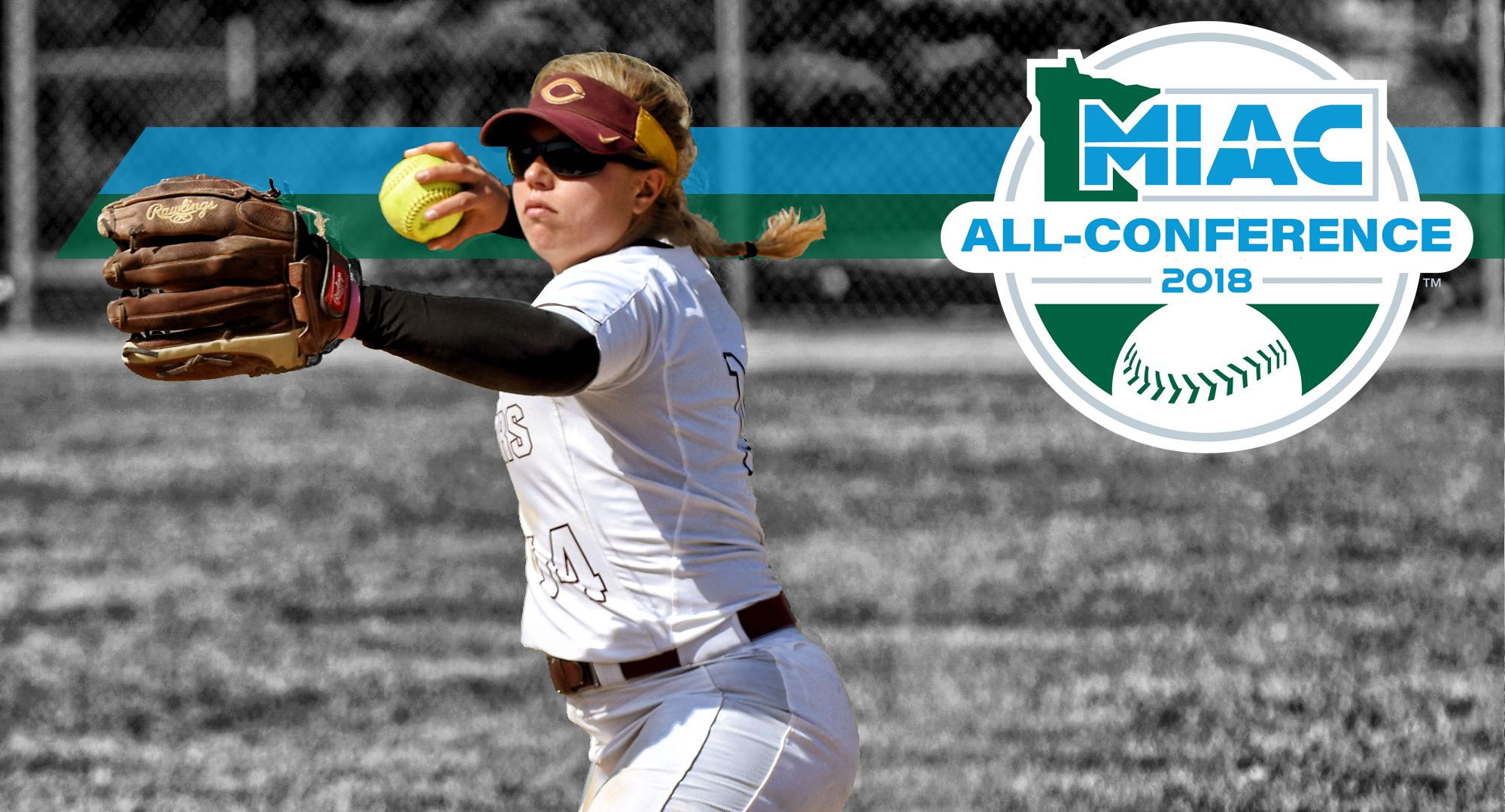Sophomore Brooke Ankerfelt was named to the MIAC All-Conference Team after leading the team in hitting in league games.