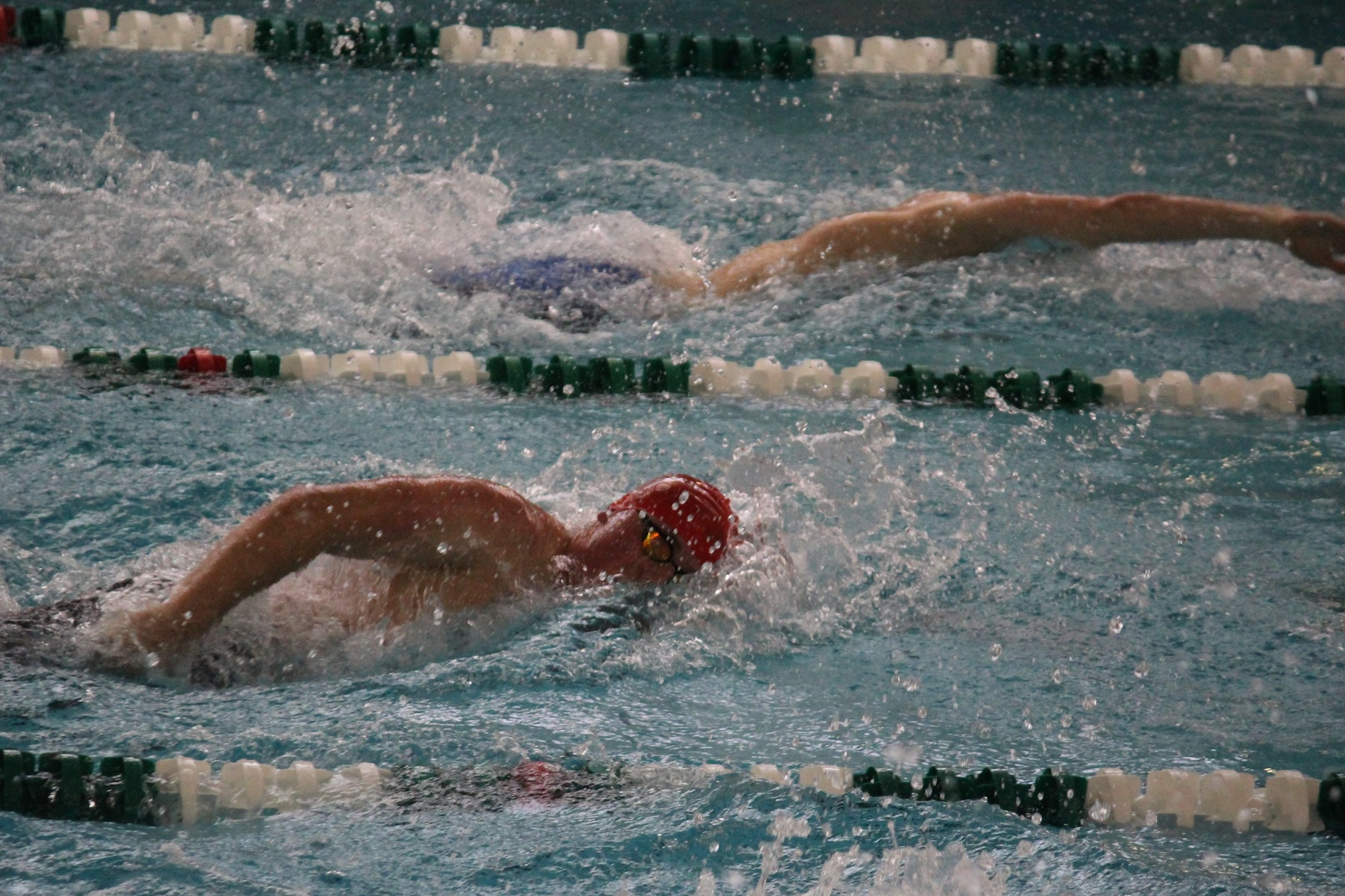 Cards swim to victories over Davenport and Valpo