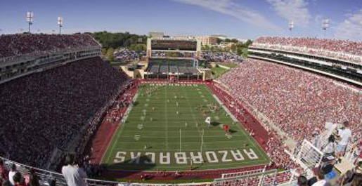 Golden Eagle football team to play at Arkansas in 2010 season