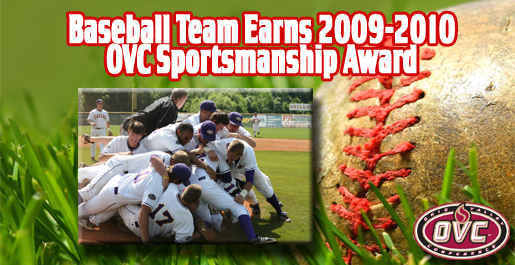 Tennessee Tech earns 2009-2010 Sportsmanship Award for baseball