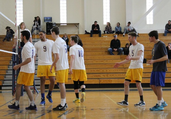 MEN'S VOLLEYBALL SPLITS GNAC TRI-MATCH AT RIVIER